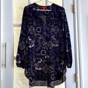 Sheer blouse - Sz L